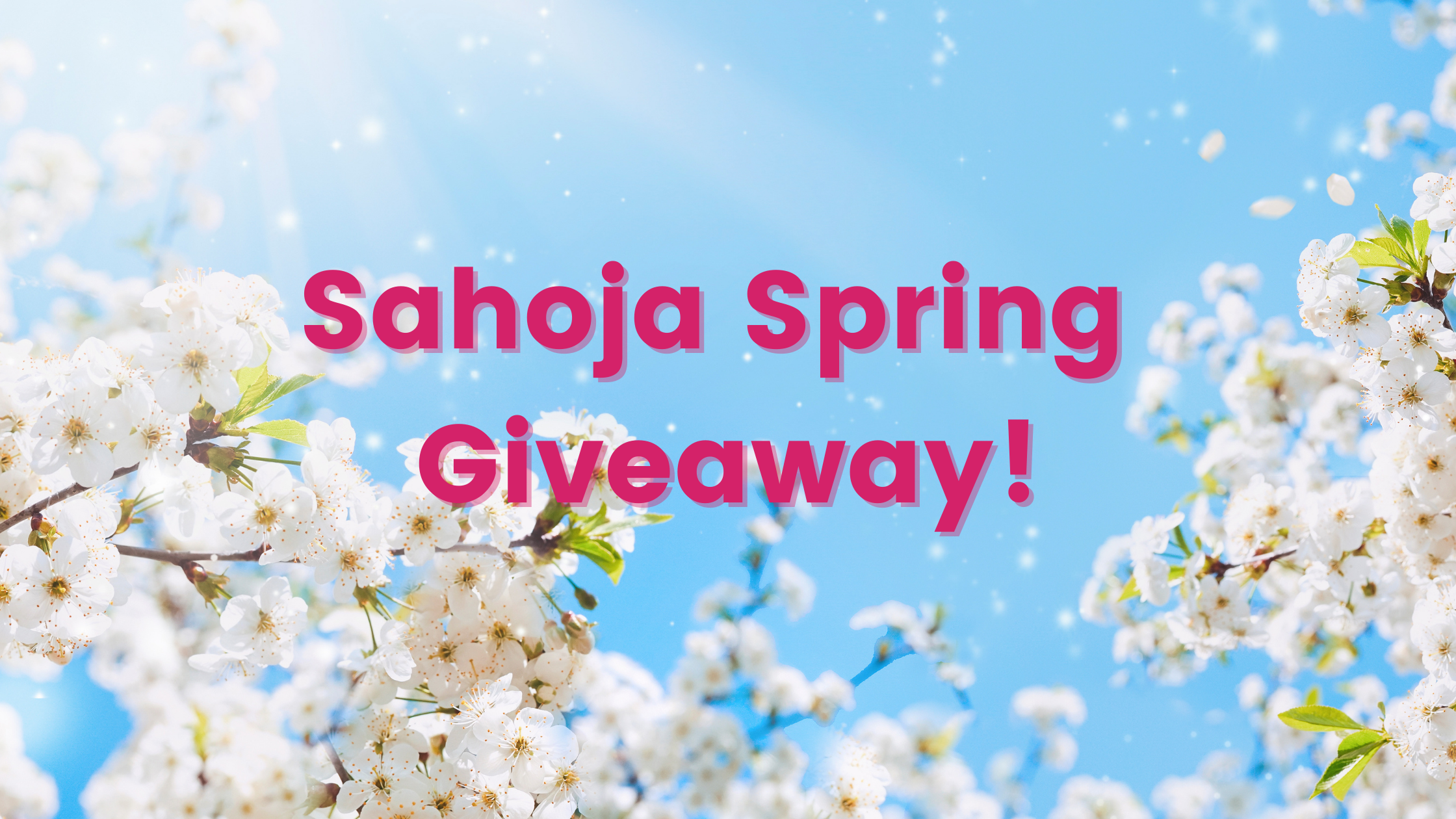 Spring flowers with blue sky - Sahoja Spring Giveaway!